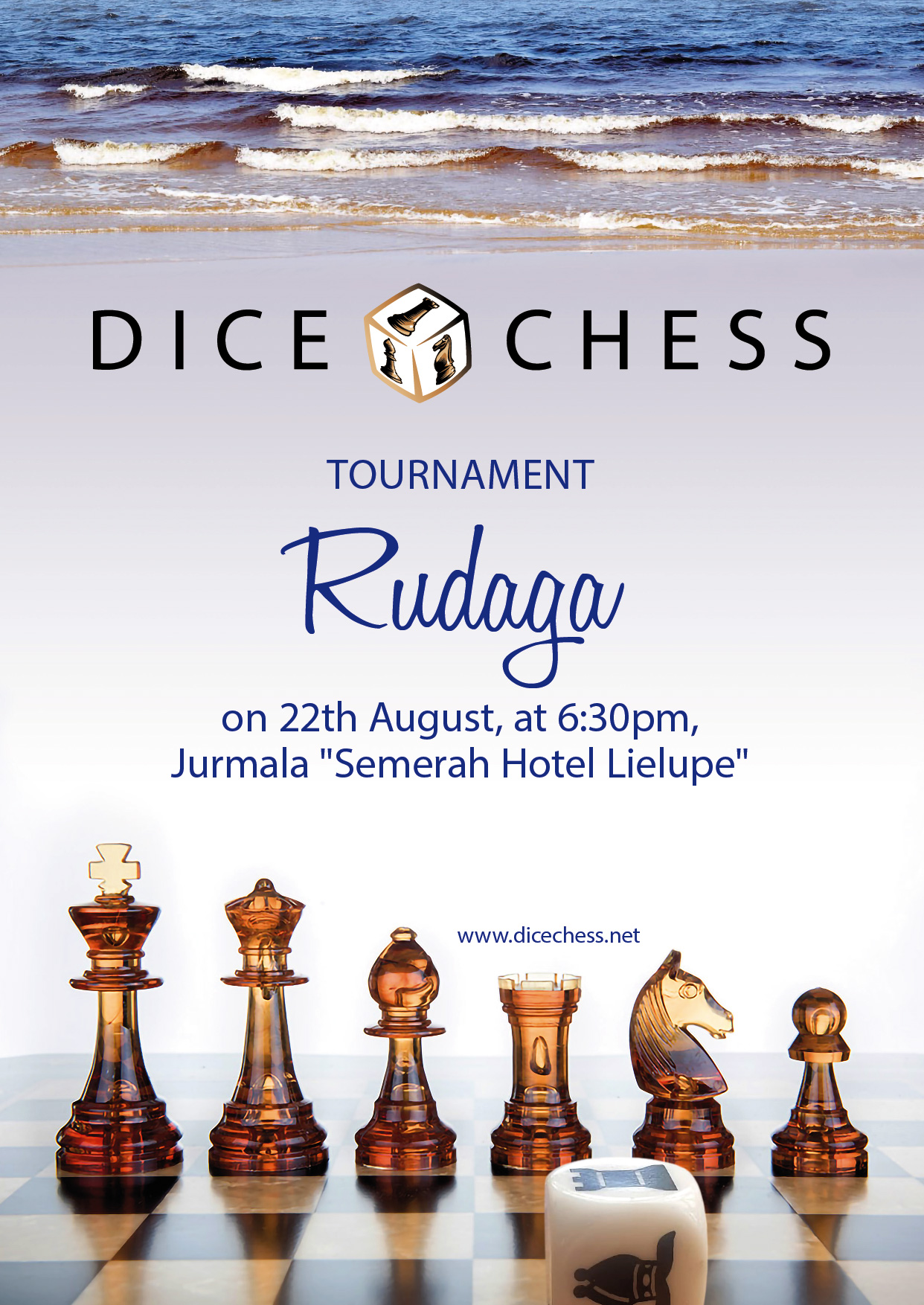 """Featured image for Soon: Dice Chess tournament """"Rudaga"""""""