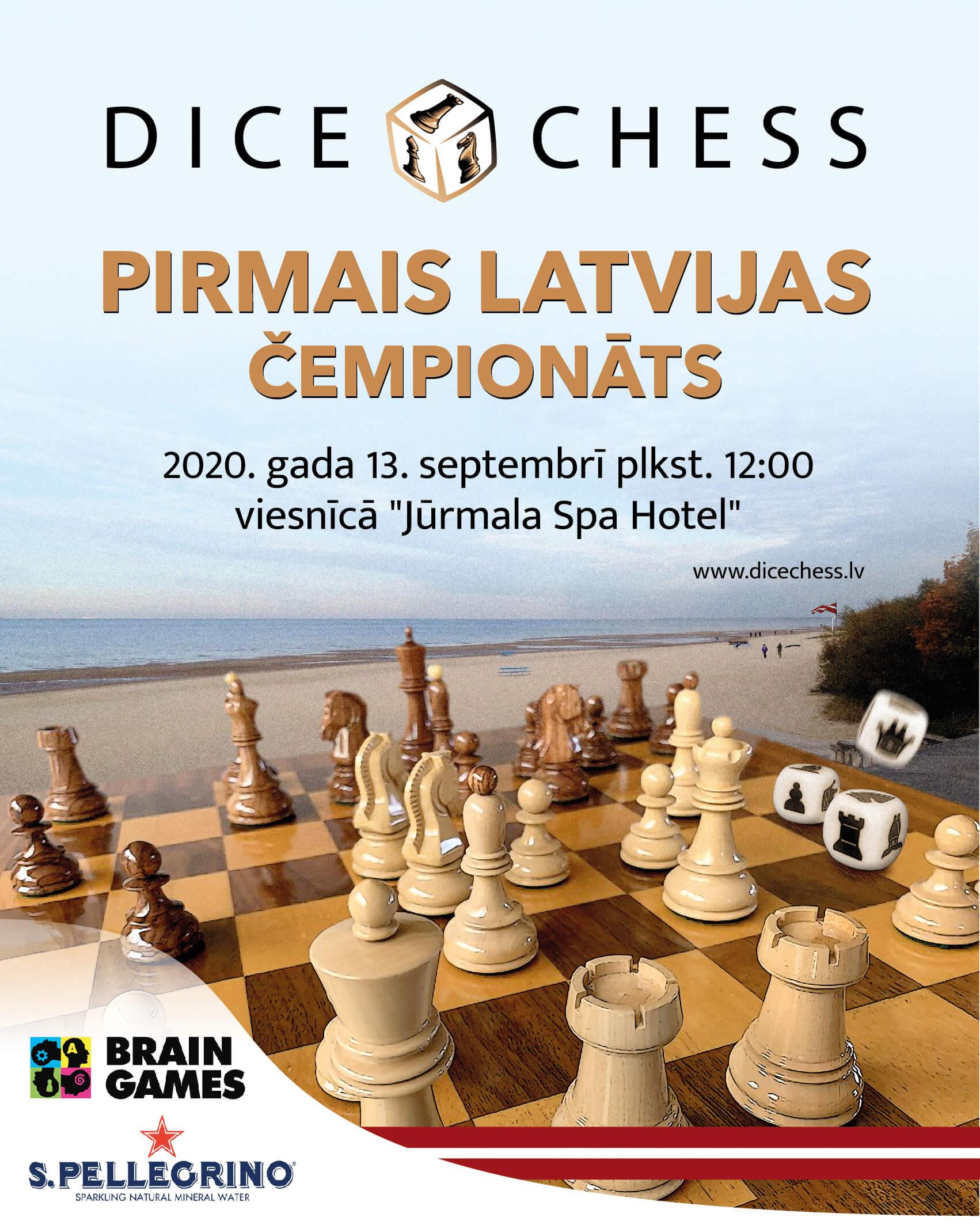 Featured image for Pirmais Latvijas Dice Chess čempionāts 2020